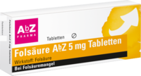 FOLSÄURE ABZ 5 mg Tabletten